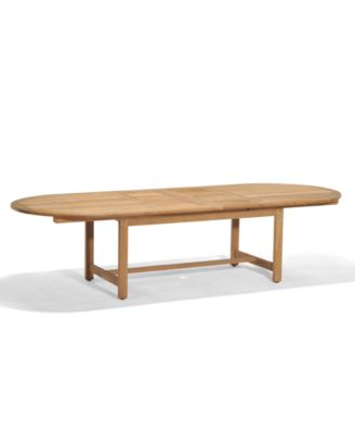 bristol teak 118 x 47 outdoor extension dining table created for macy s