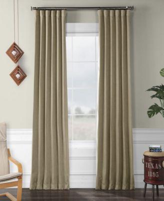 exclusive fabrics furnishings faux linen blackout curtain 108 x 50 curtain panel