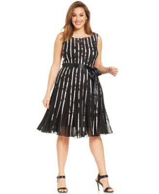 MSK Plus Size Illusion Floral Lace Dress Dresses Women