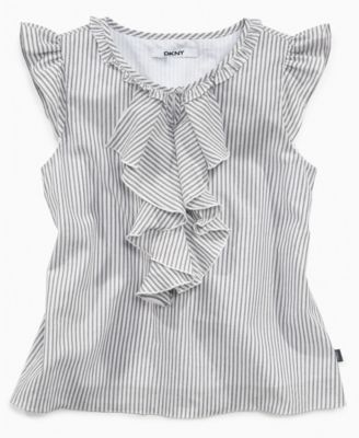 DKNY Kids Shirt, Girls Ruffle Shirt