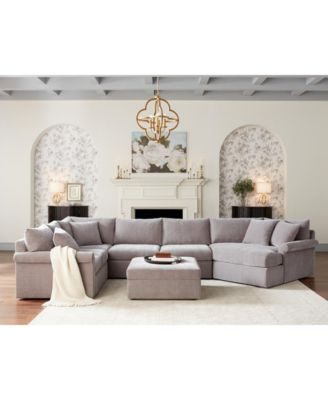 wedport 3 pc fabric modular sectional sofa with cuddler created for macy s