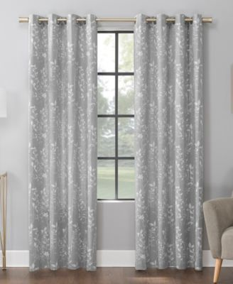 lotus botanical 52 x 84 cotton blend curtain panel