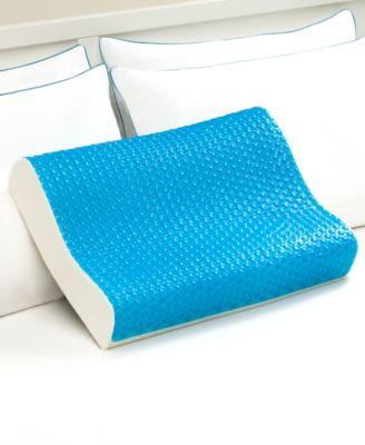 cool comfort hydraluxe standard pillow gel custom contour open cell memory foam