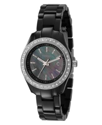 Fossil Watch, Women's Black Plastic Strap ES2436