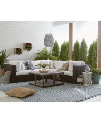 viewport outdoor 5 pc modular seating set 3 corner units and 2 armless units with sunbrella cushions created for macy s