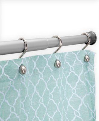 twist fit no tools rust proof aluminum shower curtain rod 42 72