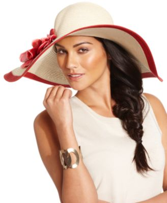 Nine West Hat, Super Floppy with Flower