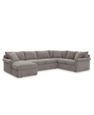 wedport 3 pc fabric sofa return sectional sofa with chaise created for macy s