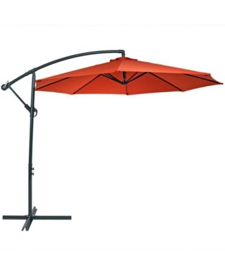 10 offset cantilever outdoor patio umbrella with crank and cross base