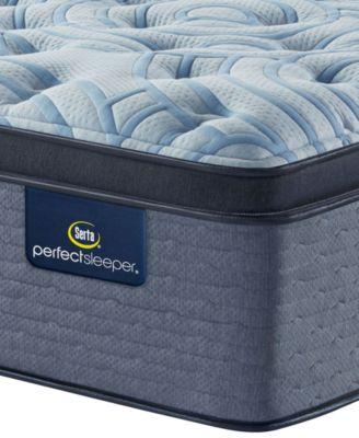 perfect sleeper luminous sleep 17 5 plush pillow top mattress queen
