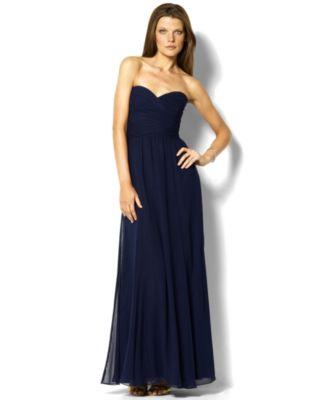Lauren Ralph Lauren Strapless Evening Gown Dresses Women Macys