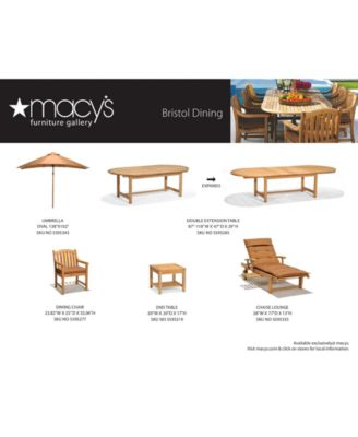 bristol teak outdoor dining collection created for macy s