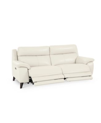 milany 87 leather power reclining sofa with power headrest and usb power outlet created for macy s