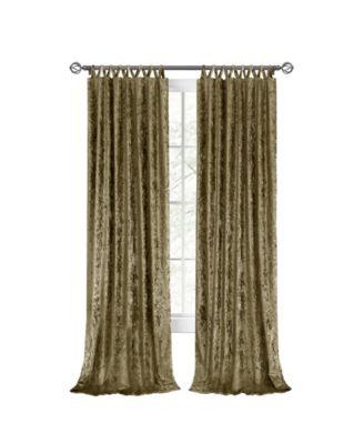 harper criss cross window curtain panel 50x84