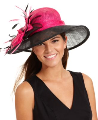 August Hat, Ruby Downbrim Church Hat