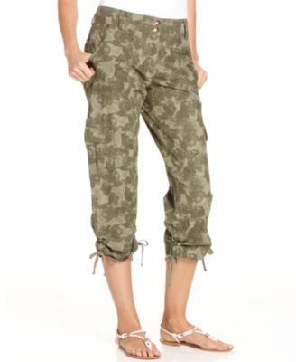 Style&co. Pants, Printed Cargo Capri