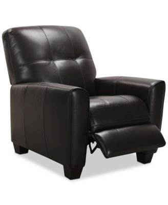 kaleb tufted leather recliner created for macy s