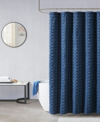 metro woven clipped solid shower curtain 72 w x 72 l