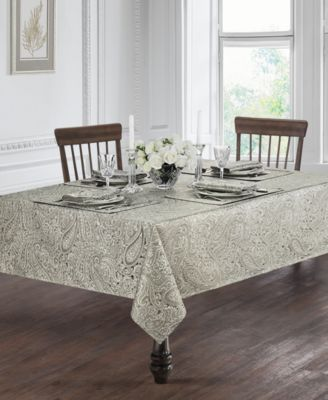 Waterford Esmeralda Taupe 90 Round Tablecloth Table