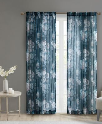 63 twisted tab top sheer curtain set