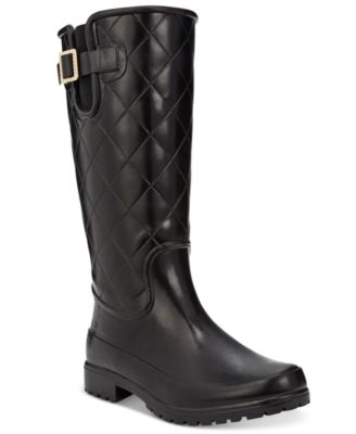Sperry Womens Pelican Tall Quilted Rain Boots Boots