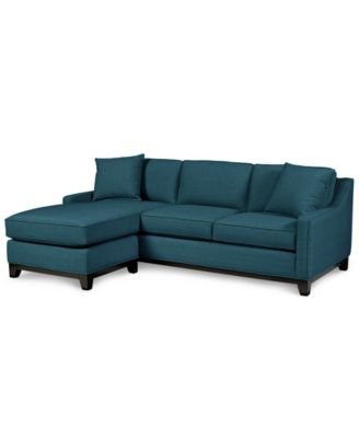 Chaise Sofa  Shop Couches Online   Macy s Keegan 90  2 Piece Fabric Sectional Sofa