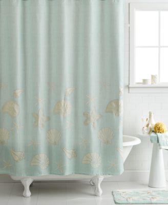 Avanti Bath Sequin Shells 72 X 72 Shower Curtain Bathroom Accessories Bed Amp Bath Macys
