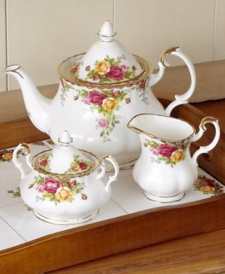 Royal Albert Old Country Roses 3 Piece Tea Set Fine