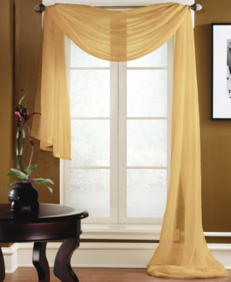 Miller Curtains Sheer Preston Rod Pocket 48 X 216 Scarf Valance Window Treatments For The