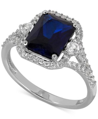 Lab Created Sapphire 3 Ct Tw And White Sapphire 38