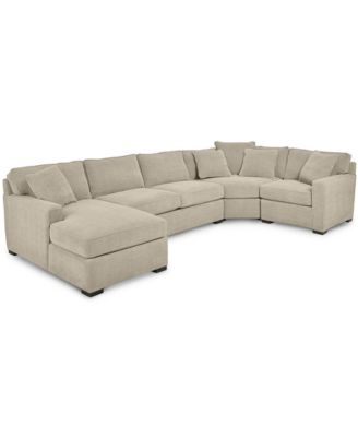 Chaise Sofa  Shop Couches Online   Macy s Radley 4 Piece Fabric Chaise Sectional Sofa  Created for Macy s
