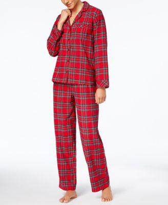 Family Pajamas Womens Holiday Plaid Pajama Set Created