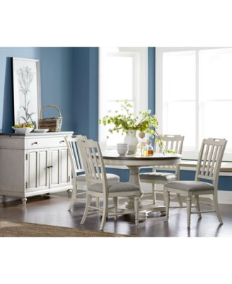 Dining Room Furniture   Macy s Barclay Round Expandable Dining Furniture Collection