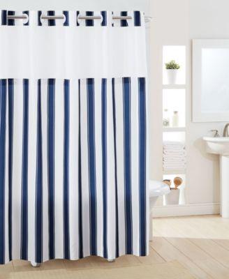 navy shower curtain macy s