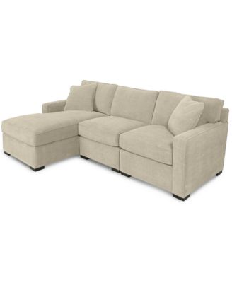 Chaise Sofa  Shop Couches Online   Macy s Radley 3 Piece Fabric Chaise Sectional Sofa  Created for Macy s