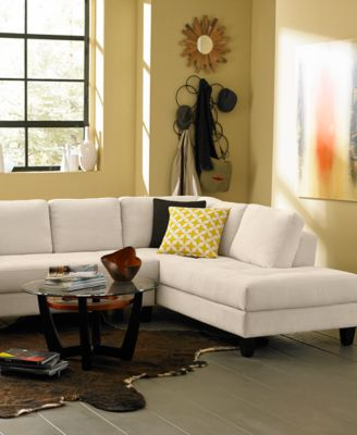 Rylee Fabric Sectional Sofa Living Room Furniture Furniture Macys