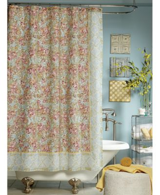 Jessica Simpson Marina Floral Print Shower Curtain Shower Curtains Bed Amp Bath Macys