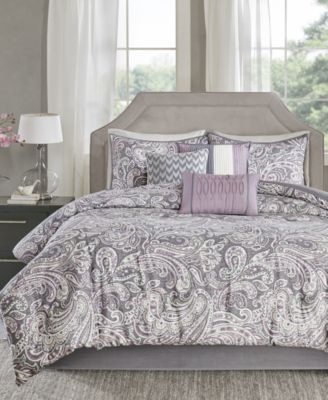 purple bed in a bag and comforter sets