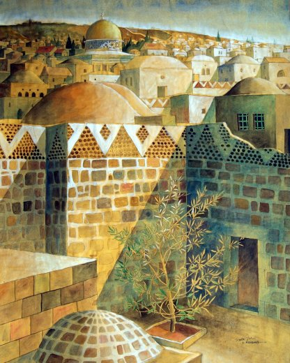 Al Quds - Sliman Mansour