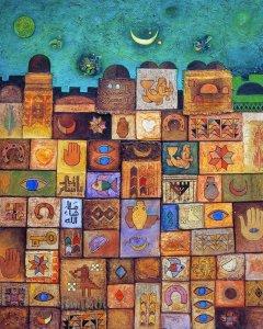 Jerusalem, Palestinian Heritage - Sliman Mansour