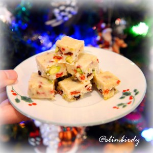 Healthy White Christmas Slice