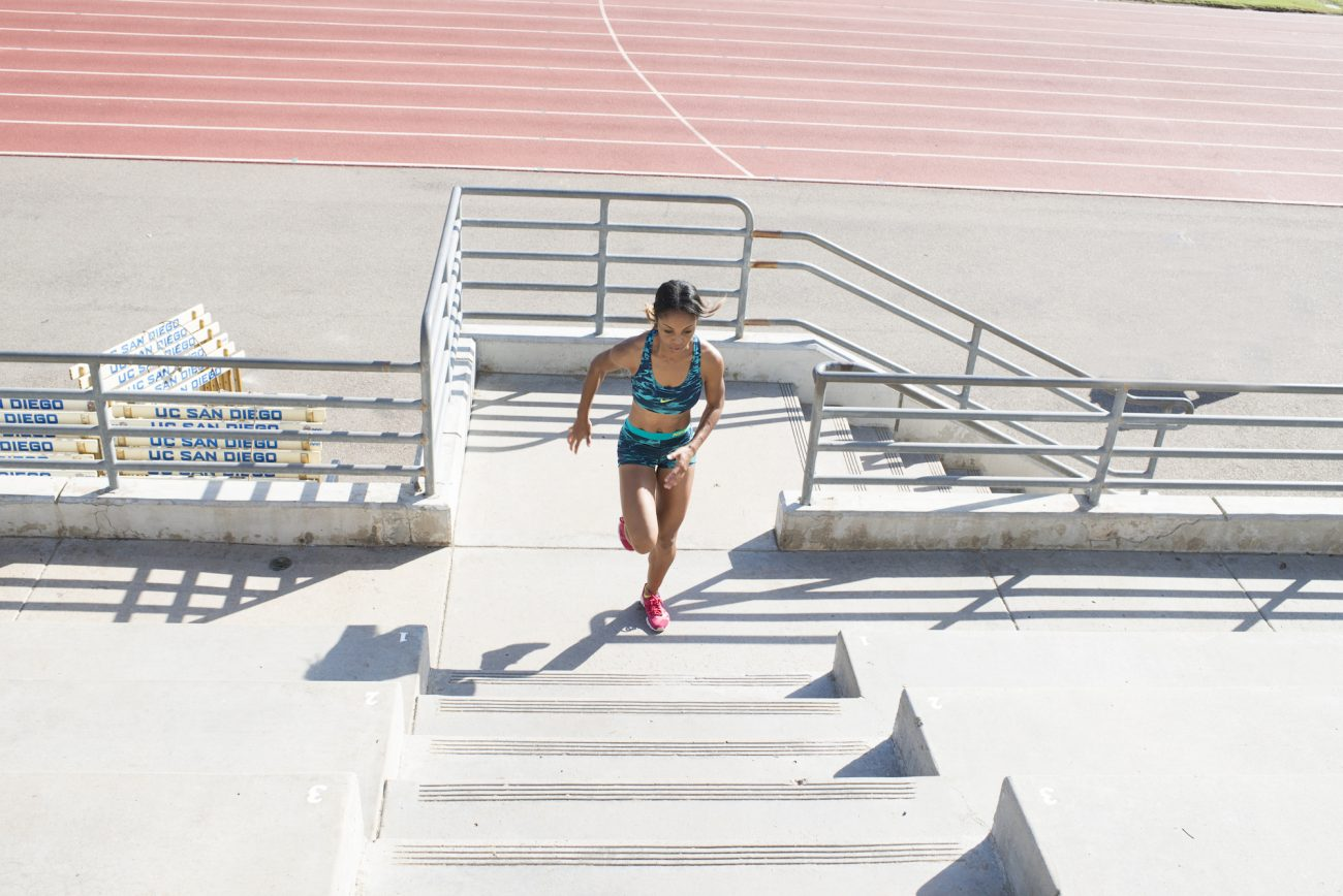 sirena alise training for 100 meter hurdles