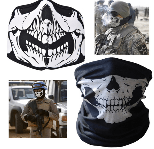 Scary Skull Mask Neck Warmer