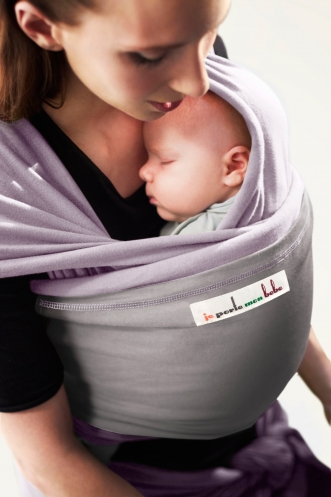 JPMB - baby wrap lavender light grey