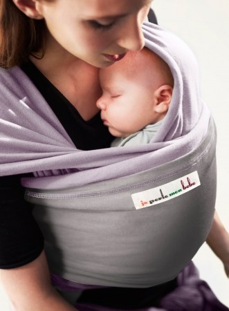 JPMB - baby wrap lavender light grey