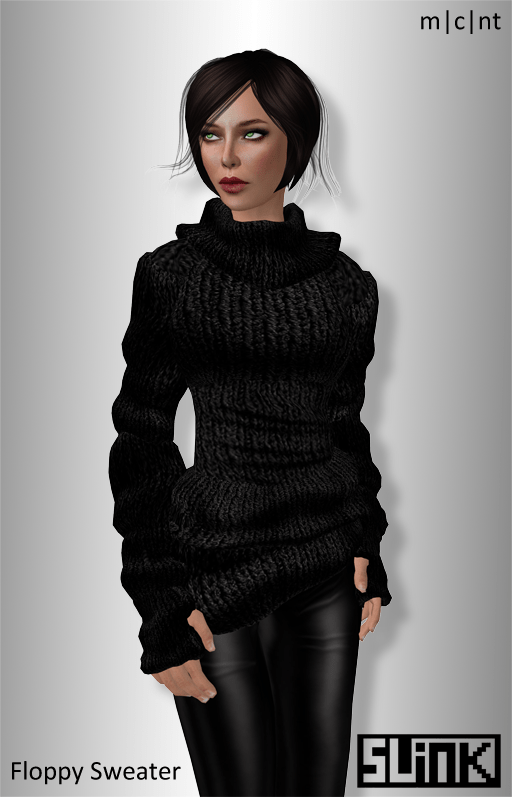 Floppy Sweater Black Ad