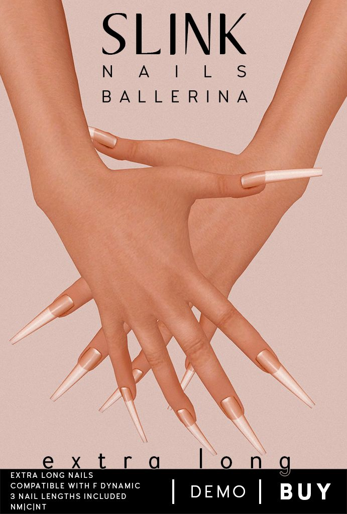 Slink Addon Nails XL Ballerina