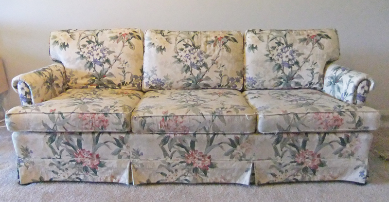 Ethan Allen Sofa Before Slipcover