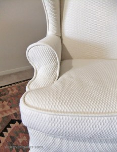 Matelasse Slipcover by Karen's Custom Slipcovers