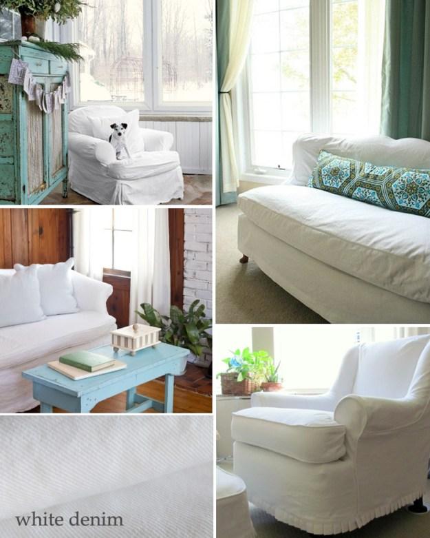White Denim Slipcover Inspiration